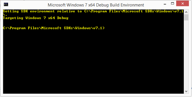 Windows SDK 64 Prompt